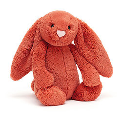 Peluche Jellycat lapin saumon– Bashful cinnamon bunny – Medium BAS3CIN 31cm