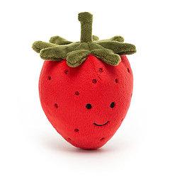 Peluche Jellycat Fraise– Fabulous Fruit Strawberry- FABF6S 8cm