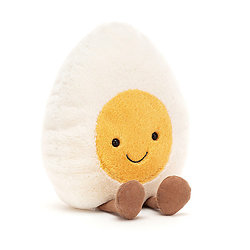 Peluche Jellycat Oeuf dur – Amuseable Boiled Egg - Large A2BE 23 cm