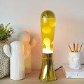 Lampe à lave Doré - 45 cm