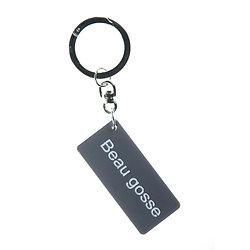 Porte clefs Beau gosse - Gris