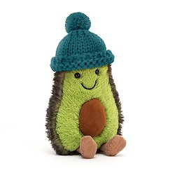 Peluche Jellycat Avocat - Amuseable Avocado Teal - COZ4T 16 cm