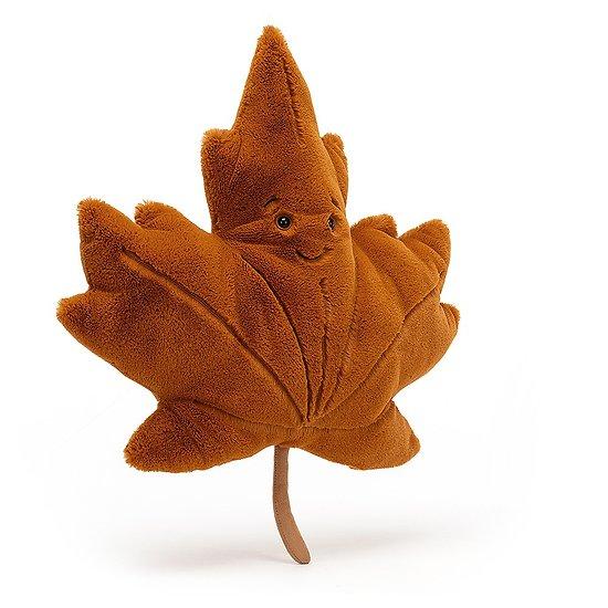 Peluche Jellycat Feuille d'érable - Woodland Maple Leaf - LEAF2S 43 cm