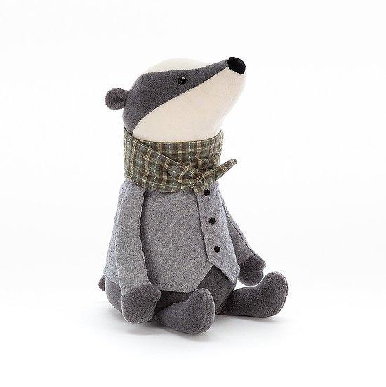 Peluche Jellycat blaireau – Riverside Rambler Badger – RIV3B 23cm