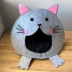 Panier pour chat original - Tête de chat