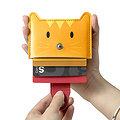 Porte cartes de credit - Chat orange