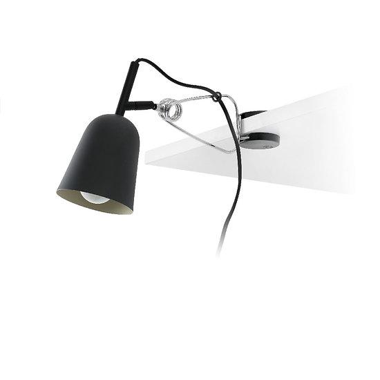 Lampe avec pince orientable en métal - Noir