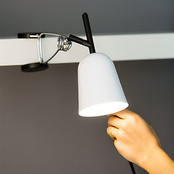 Lampe avec pince orientable en métal - Blanc