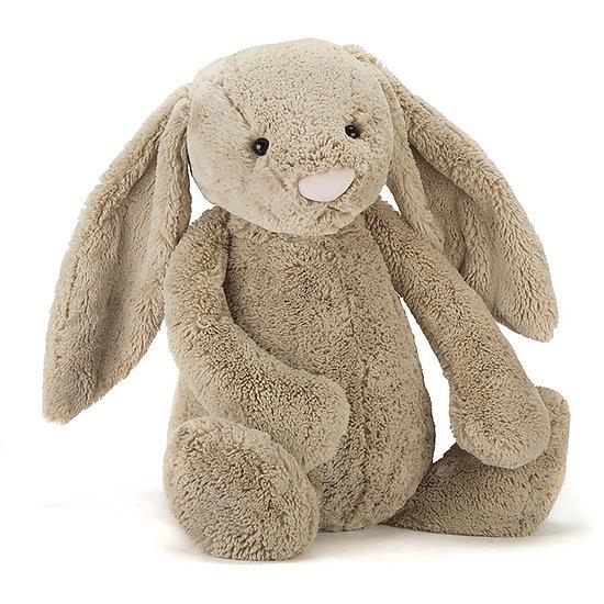 Peluche Jellycat lapin beige - Bashful beige bunny Really Big - BARB1BB 67cm