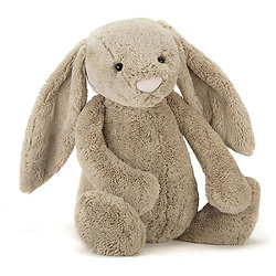 Peluche Jellycat lapin beige - Bashful beige bunny Really Big - BARB1BB 67cm