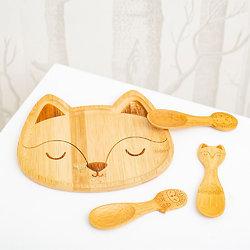 Assiette renard bambou - Sass and Belle
