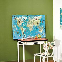 Carte du monde fantastique et magnétique