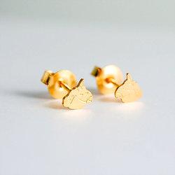Boucles d'oreilles clous jolie Licorne