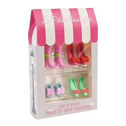 Lot de 8 gommes Chaussures de Poupée