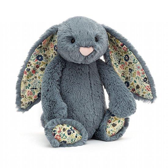 Peluche Jellycat lapin Bleu gris - Blossom Dusky Blue Bunny - Medium BL3DUSK 31cm