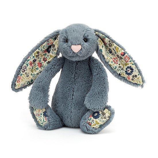 Peluche Jellycat lapin Bleu gris - Blossom Dusky Blue Bunny - Small BL6DUSK 18cm