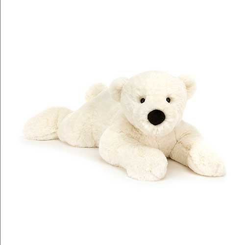 Peluche Jellycat Perry L'Ours Polaire couché grand modèle – Perry Polar Bear Lying - Large PE1LPB 68 cm