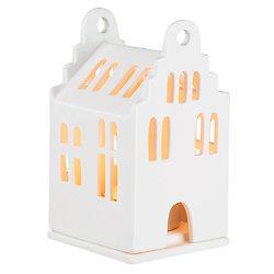 Photophore en porcelaine - Petite maison 11 cm