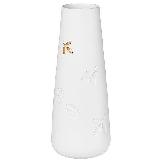 Petit vase en porcelaine Feuilles