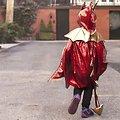 Cape deguisement enfant Dragon rouge - 5/6 ans