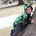 Cape deguisement enfant Dragon verte 5/6 ans