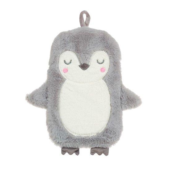 Bouillotte a eau peluche Pingouin