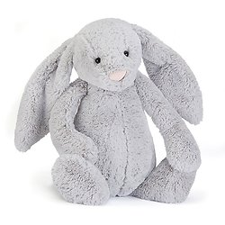 Peluche Jellycat lapin gris - Bashful gris bunny Really Big - BARB1BS 67cm