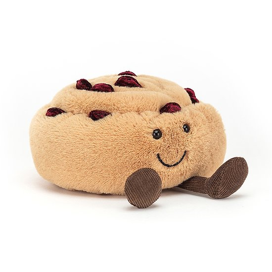 Peluche Jellycat Pain au Raisin - Amuseable Pain au Raisin - A6PARAI 12 cm
