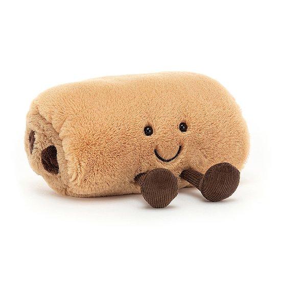 Peluche Jellycat Pain au Chocolat - Amuseable Pain au Chocolat - A6PACHOC 15 cm