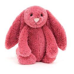 Peluche Jellycat cerise – Bashful cerise bunny – Medium BAS3CER 31cm