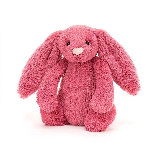 Peluche Jellycat cerise – Bashful cerise bunny – Small BASS6CER 18cm