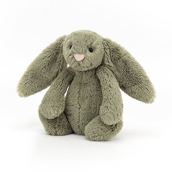 Peluche Jellycat Kaki - Bashful Fern bunny - Small BASS6FERN 18cm