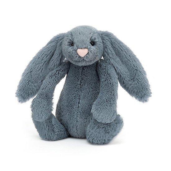 Peluche Jellycat bleu gris – Bashful Dusky Blue bunny – Small BASS6DUSKB 18cm