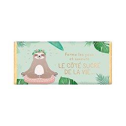 Tablette chocolat cadeau BIO - Ferme les yeux et savoure le côté sucré de la vie...