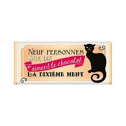 Tablette chocolat cadeau BIO - Neuf personnes sur dix aiment le chocolat. La dixième ment