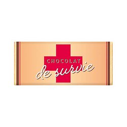 Tablette chocolat cadeau BIO - Chocolat de survie - effet metallic or