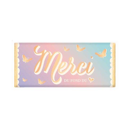 Tablette chocolat cadeau BIO - Merci du fond du coeur