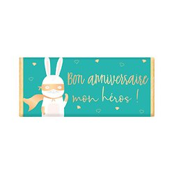 Tablette chocolat cadeau BIO - Bon anniversaire mon héros !