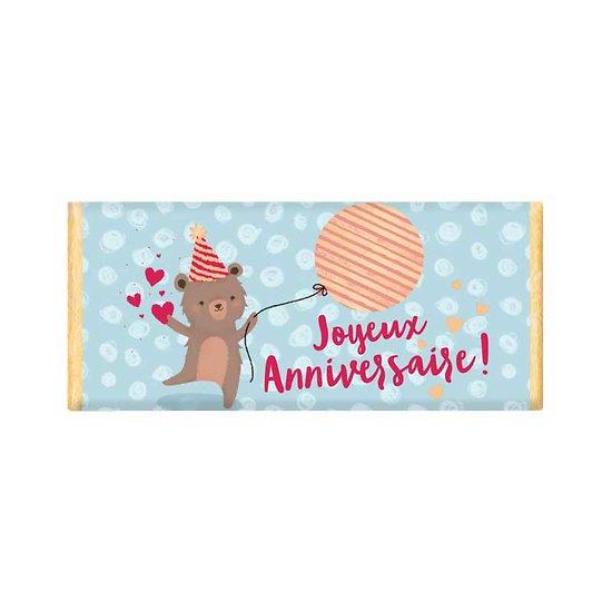 Tablette chocolat cadeau BIO - Joyeux Anniversaire