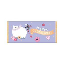 Tablette chocolat cadeau BIO - Joyeux Chatnniversaire