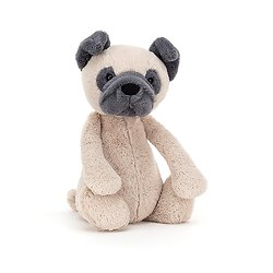 Peluche Jellycat chien – Bashful Pug – Medium BAS3PUG 31 cm