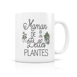Mug porcelaine Maman de belles plantes