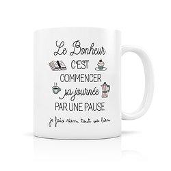 Mug porcelaine Bonheur de la pause