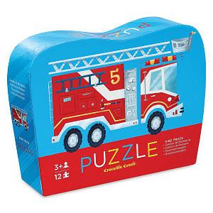 Mini Puzzle 12 pièces - Fire Truck / Camion de pompier