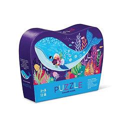 Mini Puzzle 12 pièces - Whale Wonder / Baleine merveilleuse