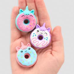 Unicorn donuts - 3 gommes licorne donut kawaii parfumées