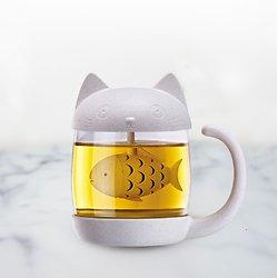 Mug Chat rigolo avec infuseur intégré