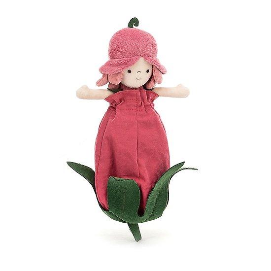Peluche Jellycat Fille Rose - Petalkin Doll Rose - PETD6R 28 cm