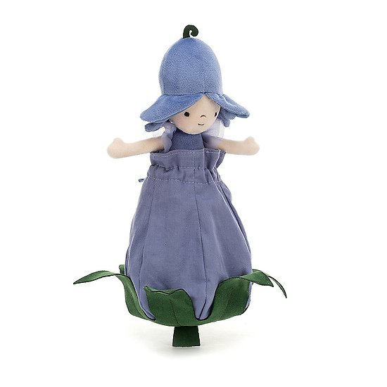 Peluche Jellycat Fille Jacinthe des bois - Petalkin Doll Bluebell - PETD6B 28 cm