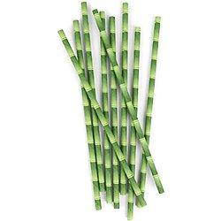 Pailles bambou en papier biodégradable - Lot de 24